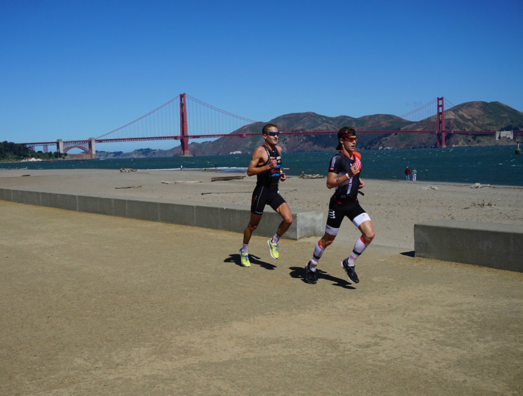 Running with Mau Mendez - nice day for a race in San Francisco except for the 30mph winds.
